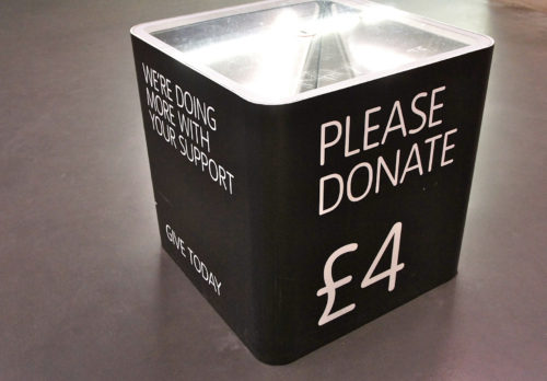 Mook News - charity box
